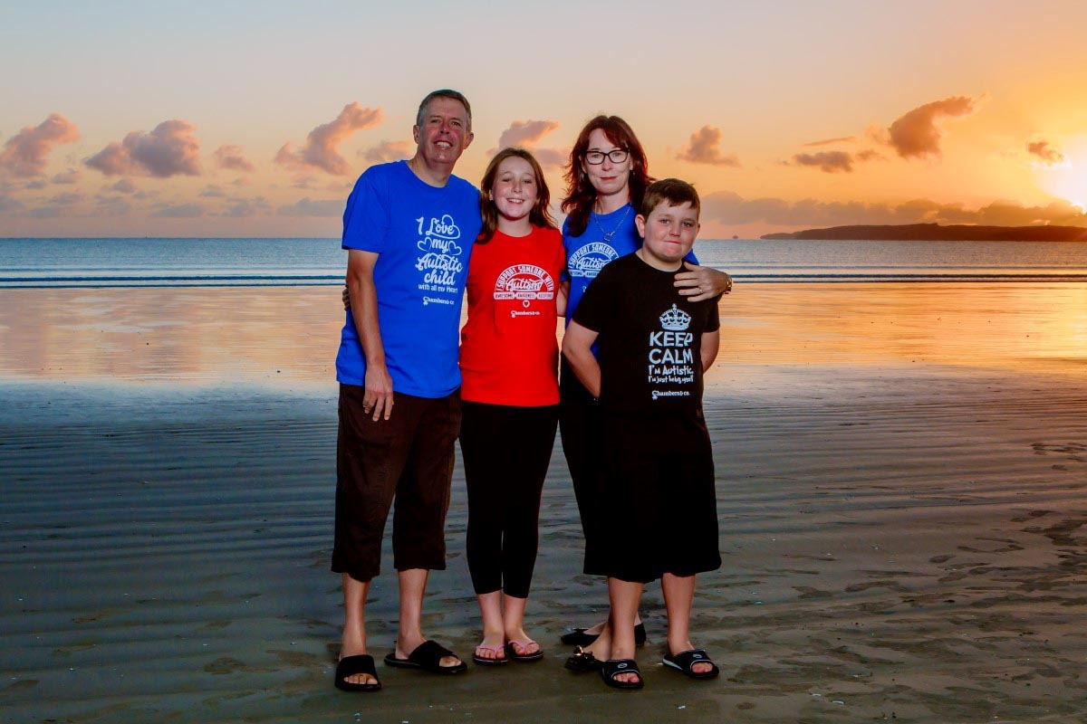 orewa beach family photo shoot